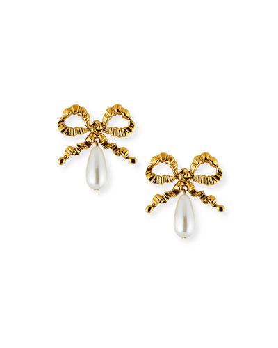 Katrina Pearly Bow Earrings