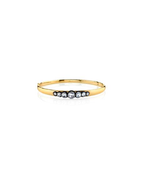 18k Gold 7-Diamond Hinge Bracelet