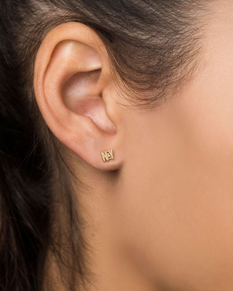 14k Gold NY Post Earrings