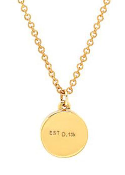 18k Mini Diamond Pave Circle Necklace