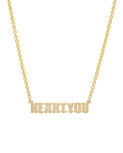 14k Gold HEART YOU Pendant Necklace