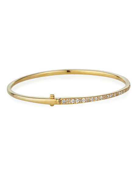 Stardust 18k Gold Diamond Hinged Bracelet