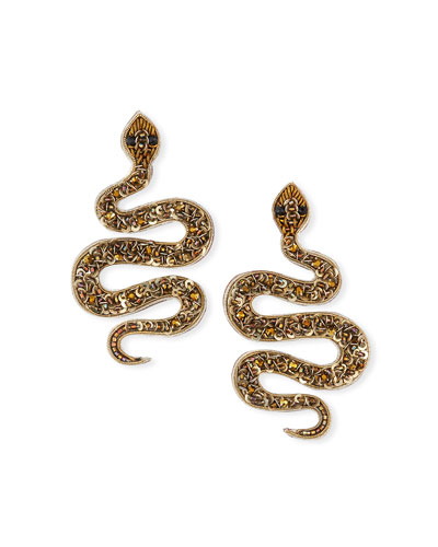 Snake Bead Post Earrings