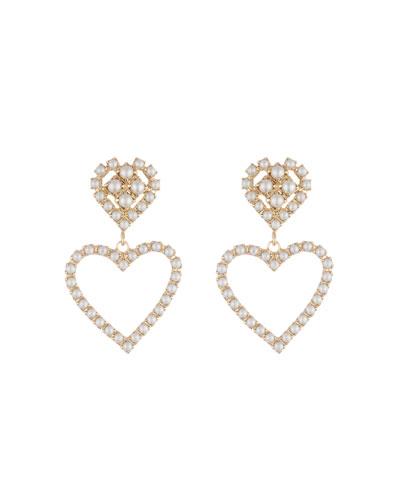 Fiona Pearly Heart-Drop Earrings