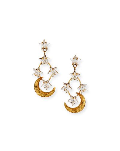 Australis Crystal-Star Earrings