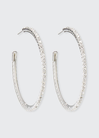 Small Crystal Hoop Earrings