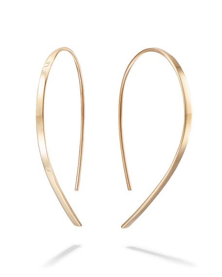 14k Mini Flat Hook Earrings