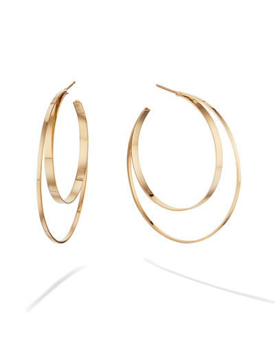 14k Small Double-Circle Hoop Earrings