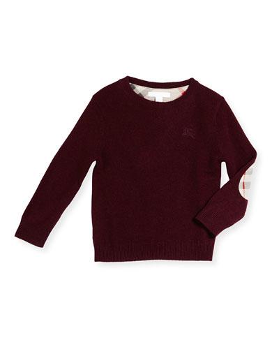Mini Durham Cashmere Pullover Sweater, Size 4Y-14Y