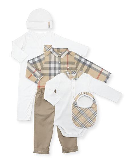 Burberry Boys' Maximilian Layette Set, White, Size 3-18