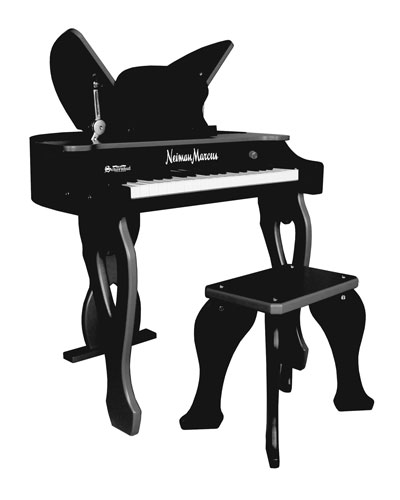 37-Key Electronic Butterfly Piano & Bench  Black
