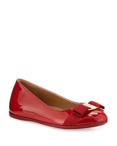 Varina Mini Patent Leather Ballet Flats  10T-2Y