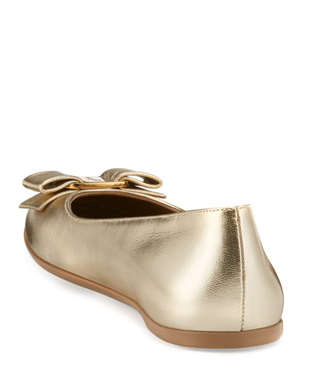 Varina Mini Leather Ballet Flats, 10T-2Y