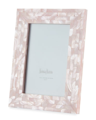 Mother-of-Pearl Picture Frame  Pink  5 x 7