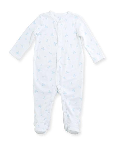 Tattersal Collared Footie Pajamas, Size Newborn-9 Months
