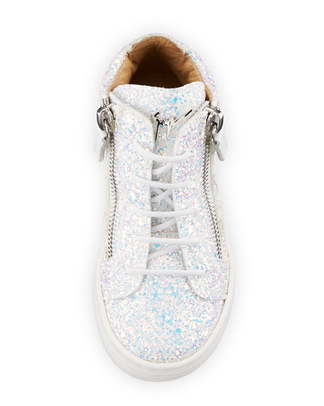 Mattglitt Hitop Glitter High-Top Sneakers, Baby