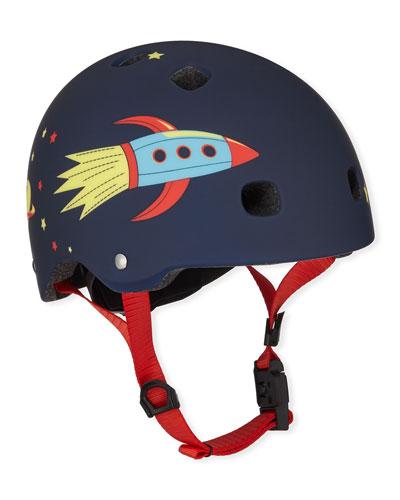 Boys' Rocket-Print Helmet  XS