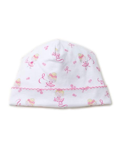 Twirly Toes Printed Pima Baby Hat