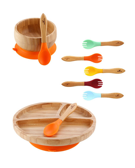 Image 1 of 1: Baby's Bamboo Suction Bowl, Plate & Spoon Set