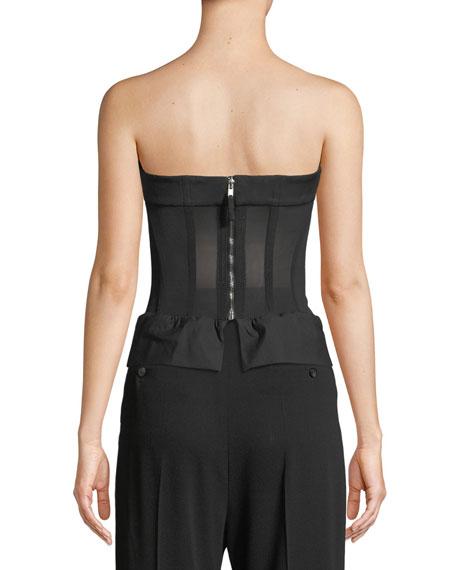 Strapless Back-Zip Bustier Top