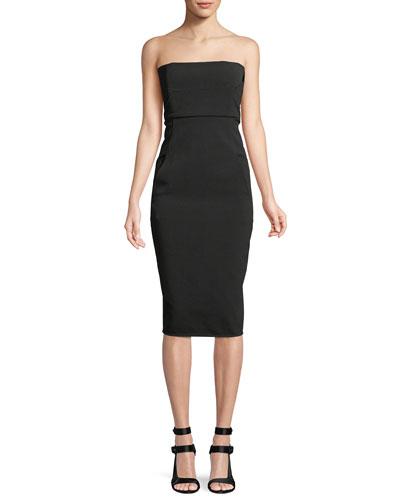 Strapless Body-con Midi Dress
