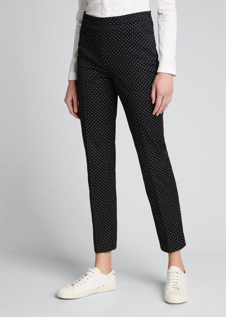 Franca Polka-Dot Stretch Polka-Dot Pants