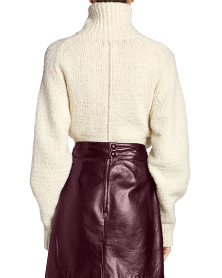 Wool Foldover-Neck Sweater