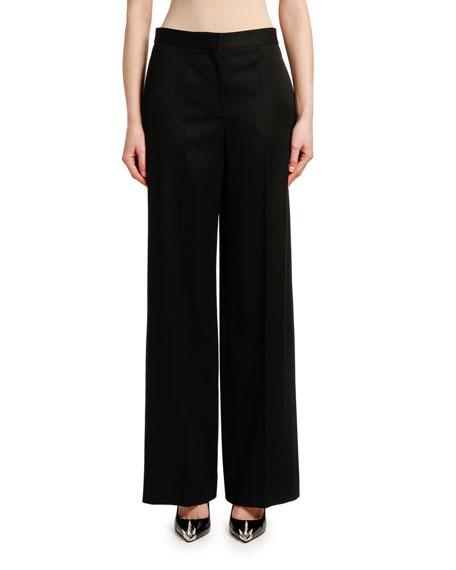 High-Waist Wide-Leg Trousers