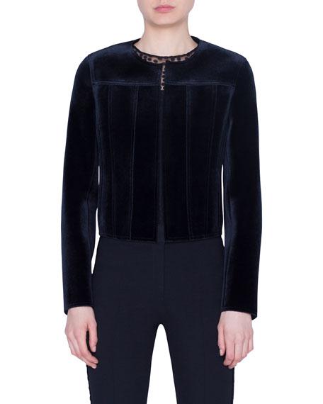 Scuba Velvet Short Jacket