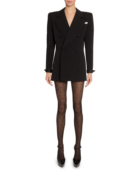 Exaggerated Double-Breasted Blazer Dress