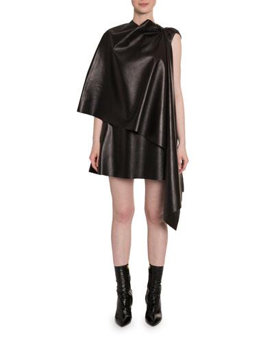 Leather Cape Dress