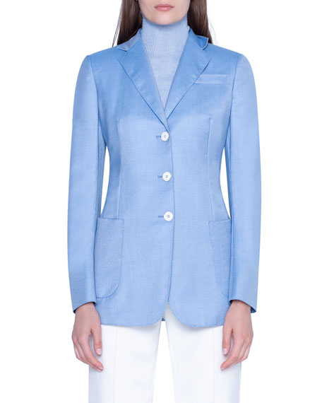 Cashmere Notched-Collar Jacket