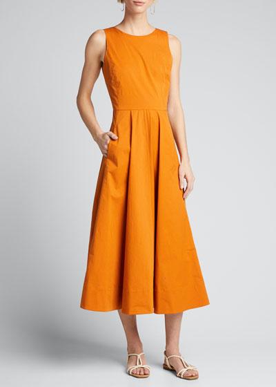 Nancy Sleeveless Poplin A-Line Dress