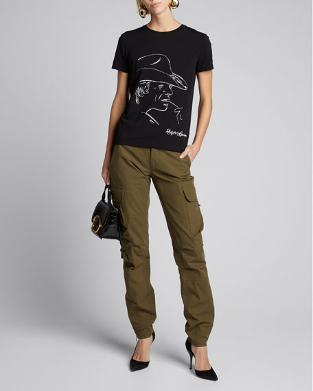 Embellished Graphic Cotton T-Shirt