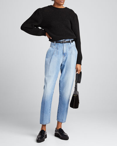Light Wash High-Rise Jeans