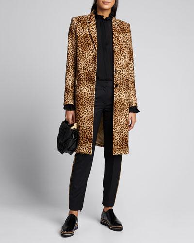 Rosalin Velvet Leopard Coat