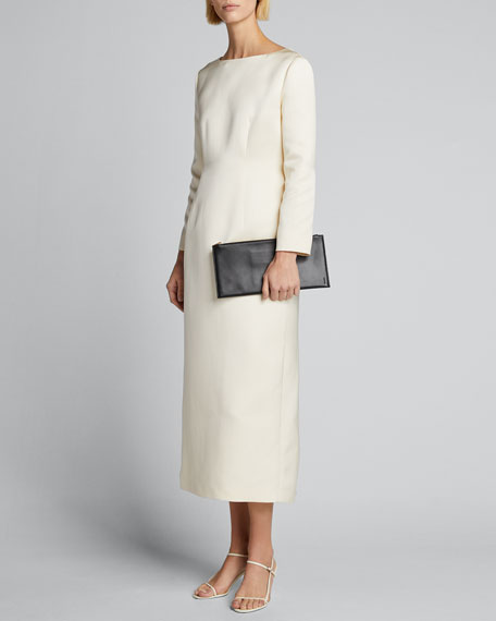 Image 1 of 1: Anke Long-Sleeve Midi Dress