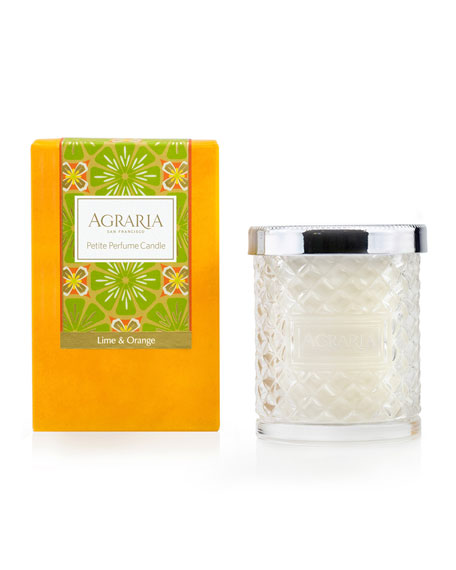 Agraria Lime and Orange Blossom Cane Candle, 3.4