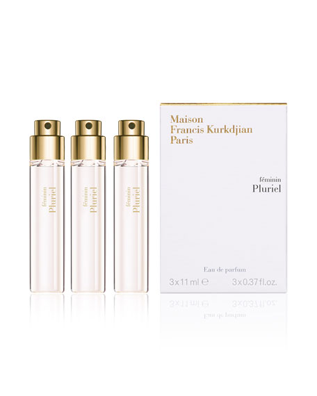 féminin Pluriel Eau de Parfum Spray Travel Refills, 3 x 0.37 oz./ 11 mL