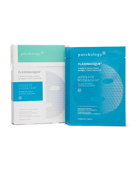 Patchology FlashMasque® Hydrate Facial Sheets, 4-pack