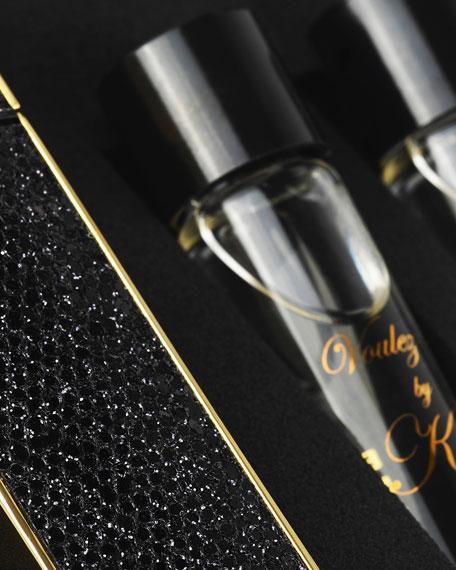 Voulez-vous coucher avec Moi Travel Spray with its 4 x .25 oz refills