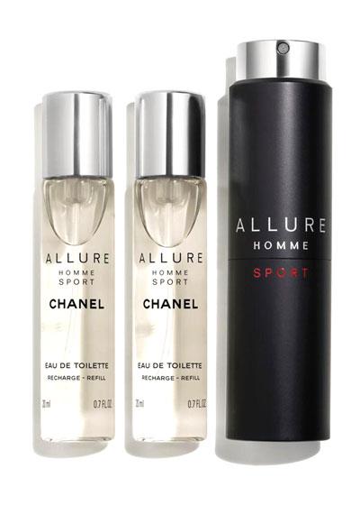 <b>ALLURE HOMME SPORT</b><br> Eau de Toilette Refillable Travel Spray