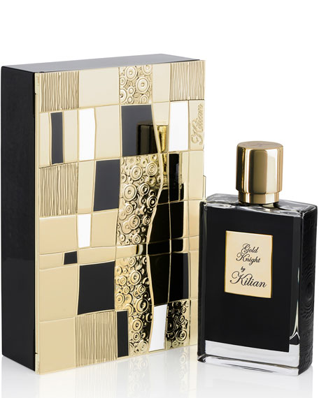 Image 1 of 1: Gold Knight 50 mL Refillable Spray and its Coffret