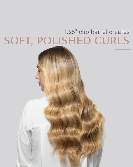 "Polished Curls 1.25"" Interchangeable Clip Curling Iron Barrel"