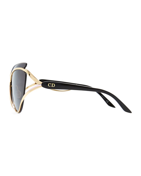 Dior Audacieuse Cat-Eye Sunglasses, Golden