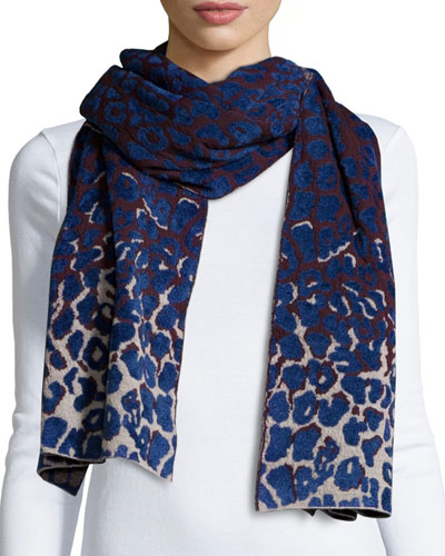 Leopard-Print Cold Weather Scarf