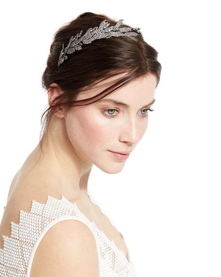 Arielle Crystal Leaf Headband