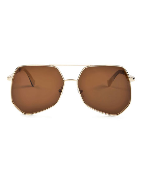 Megalast Large Aviator Sunglasses