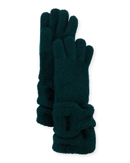 Cashmere Gloves w/Ruched Cuffs