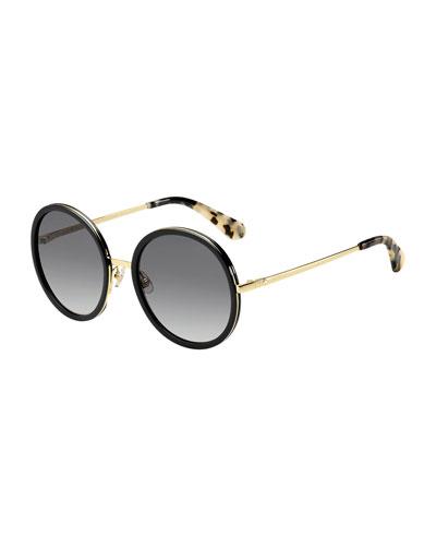 lamonica round sunglasses  black